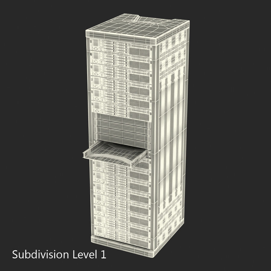 Servers in Rack 2 royalty-free 3d model - Preview no. 20