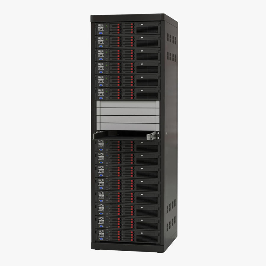Servers in Rack 2 royalty-free 3d model - Preview no. 1