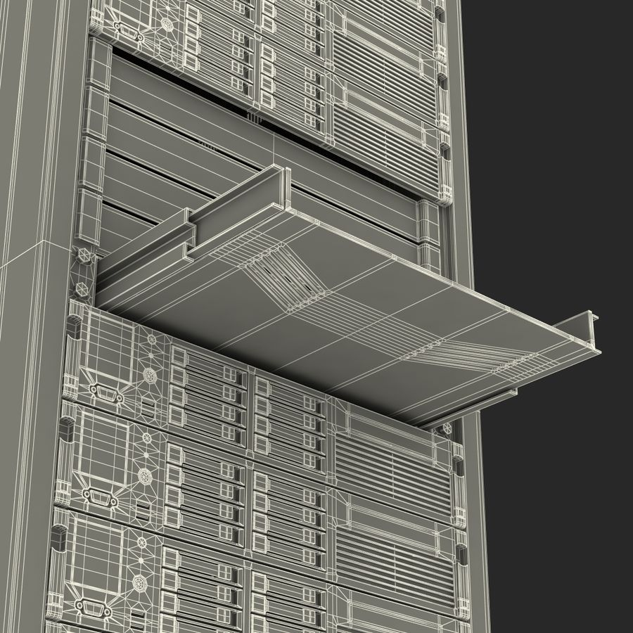 Servers in Rack 2 royalty-free 3d model - Preview no. 30
