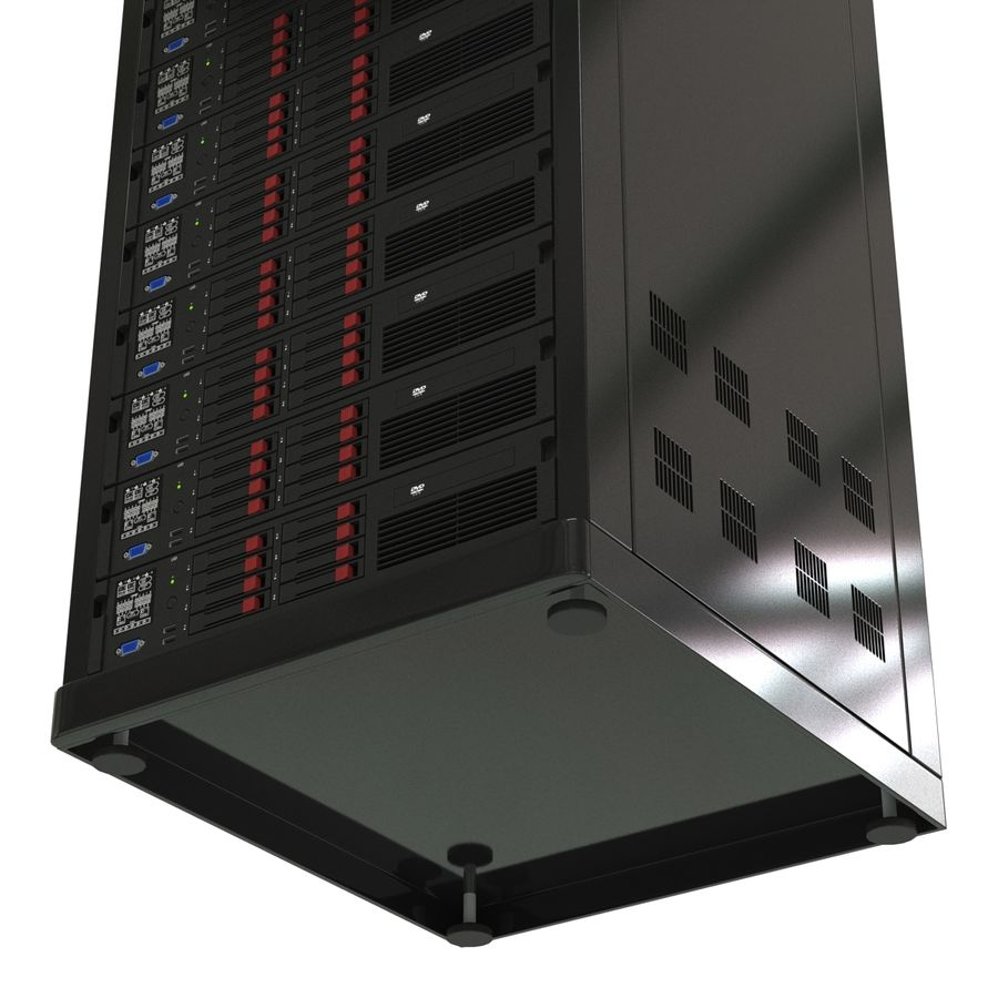 Servers in Rack 2 royalty-free 3d model - Preview no. 18