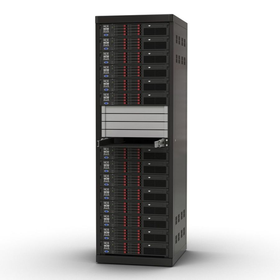 Servers in Rack 2 royalty-free 3d model - Preview no. 2
