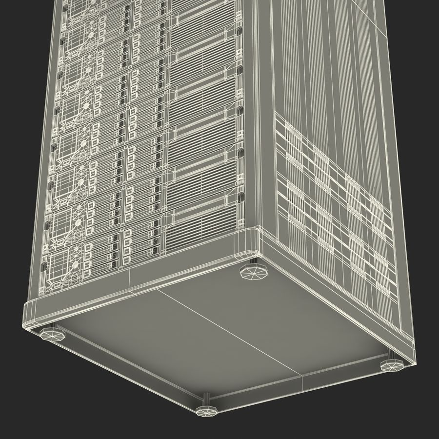 Servers in Rack 2 royalty-free 3d model - Preview no. 29