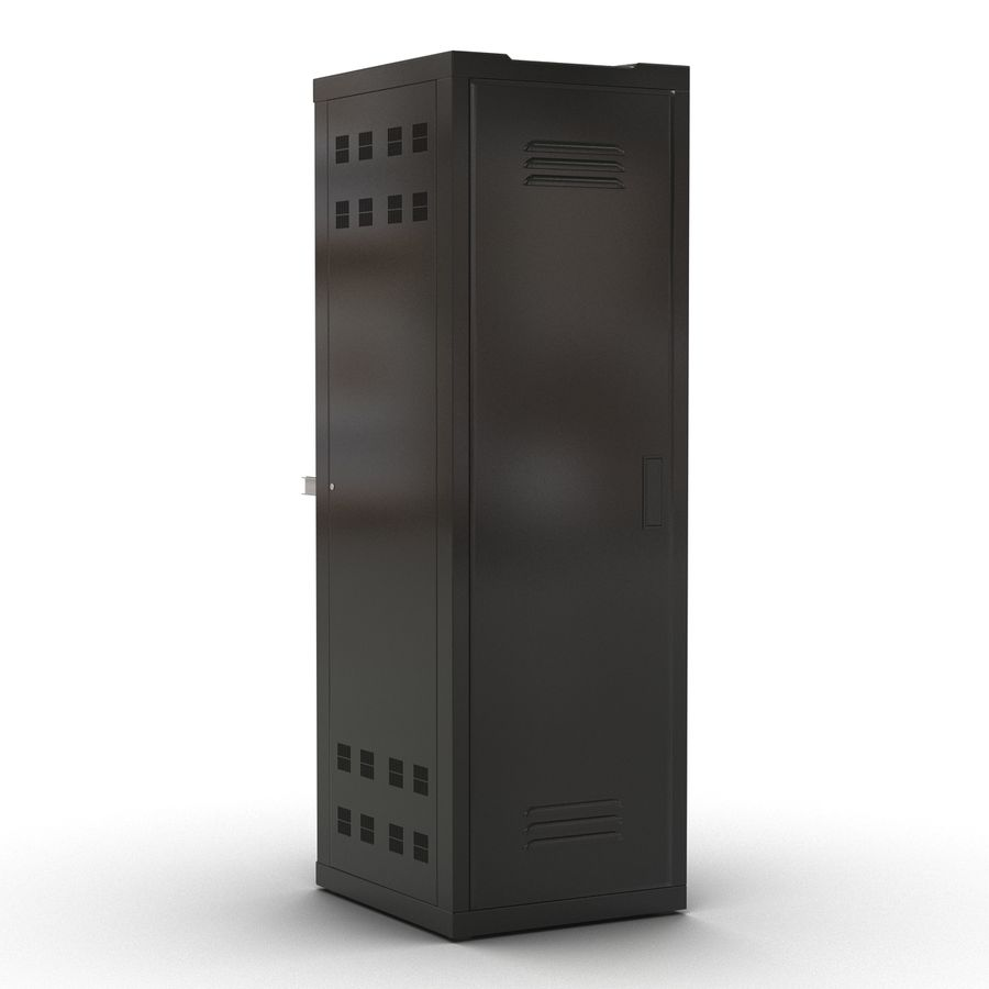 Servers in Rack 2 royalty-free 3d model - Preview no. 5