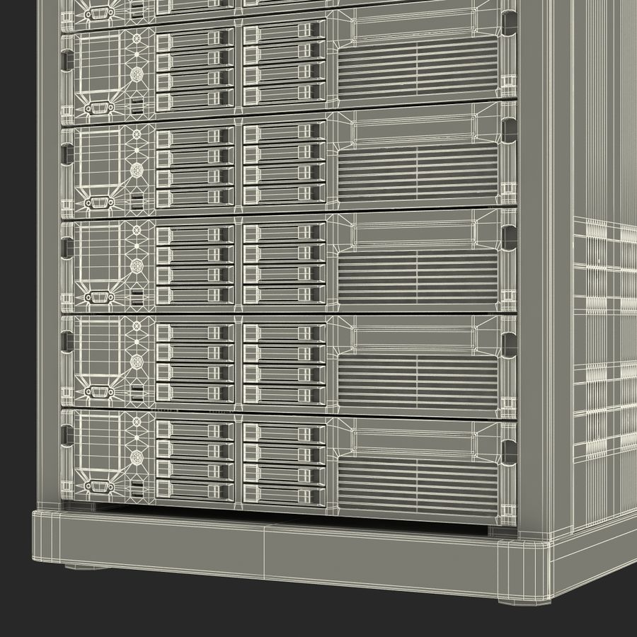 Servers in Rack 2 royalty-free 3d model - Preview no. 28