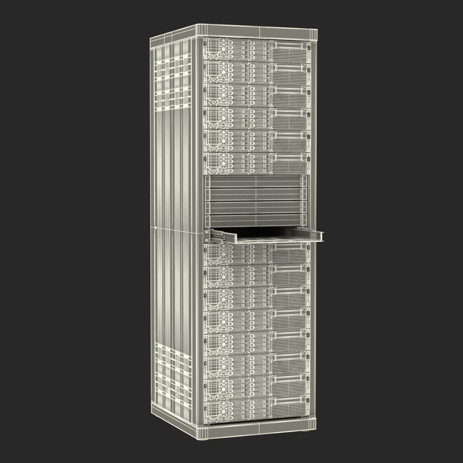 Servers in Rack 2 royalty-free 3d model - Preview no. 24
