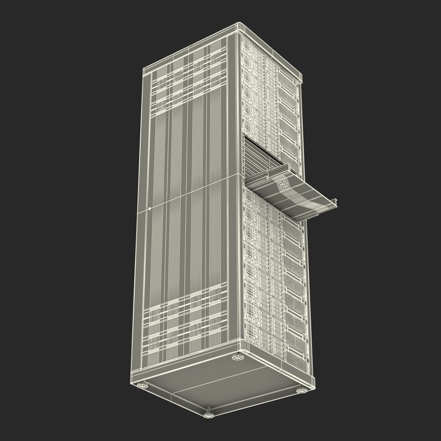 Servers in Rack 2 royalty-free 3d model - Preview no. 26