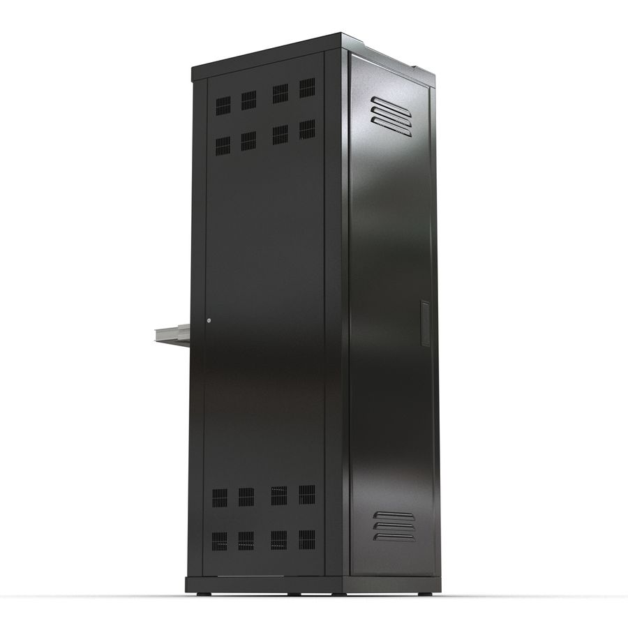 Servers in Rack 2 royalty-free 3d model - Preview no. 10