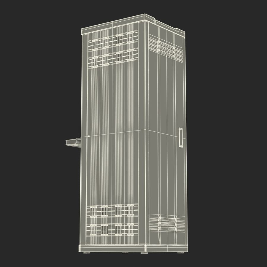 Servers in Rack 2 royalty-free 3d model - Preview no. 25