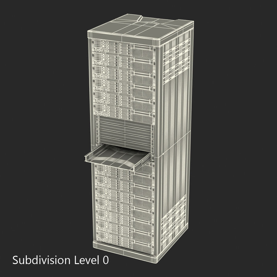 Servers in Rack 2 royalty-free 3d model - Preview no. 19