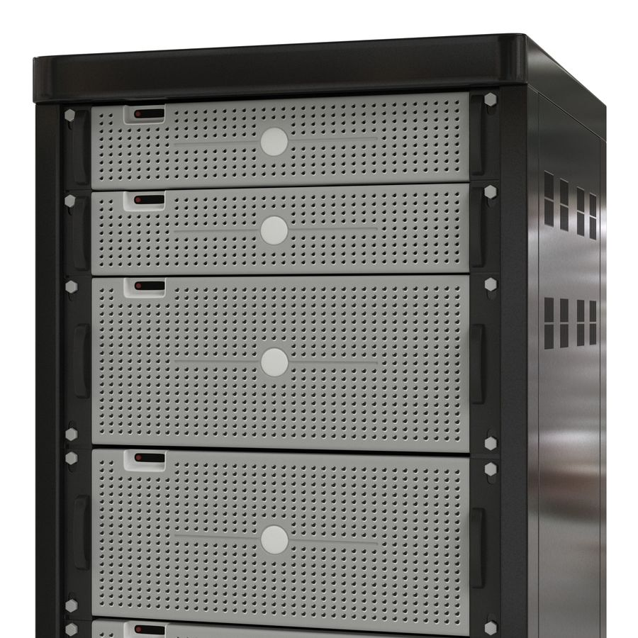 Generic Servers in Rack 2 royalty-free 3d model - Preview no. 11