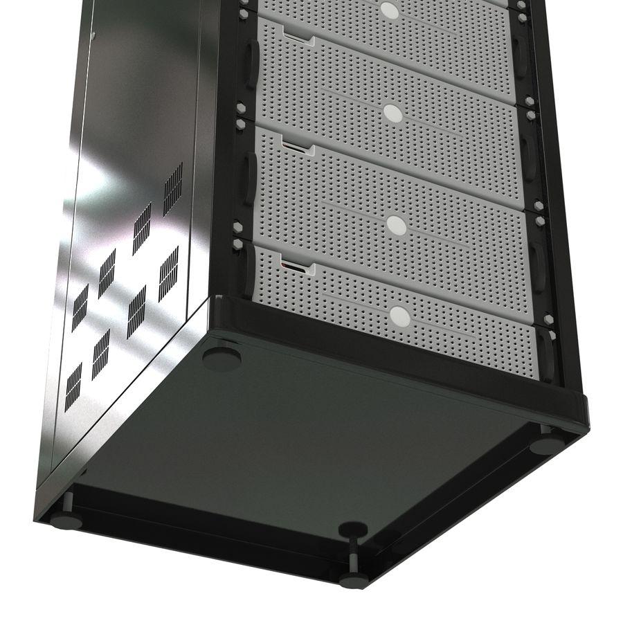 Serveurs génériques dans le rack 2 royalty-free 3d model - Preview no. 14