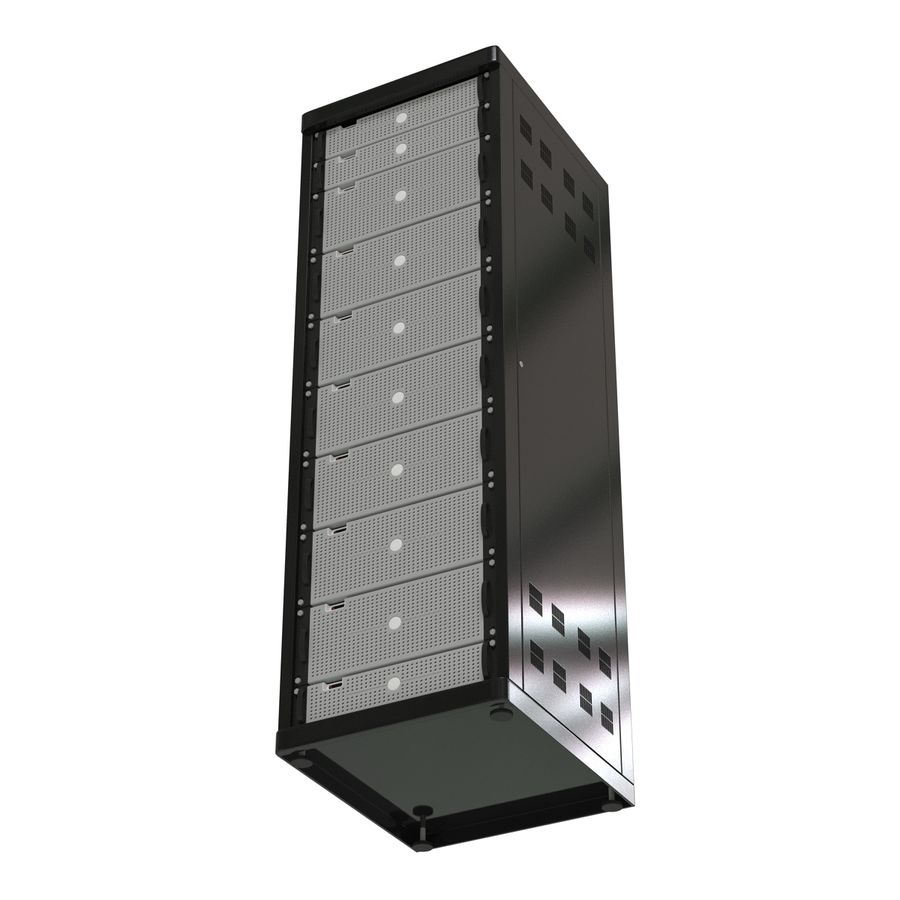 Generic Servers in Rack 2 royalty-free 3d model - Preview no. 8