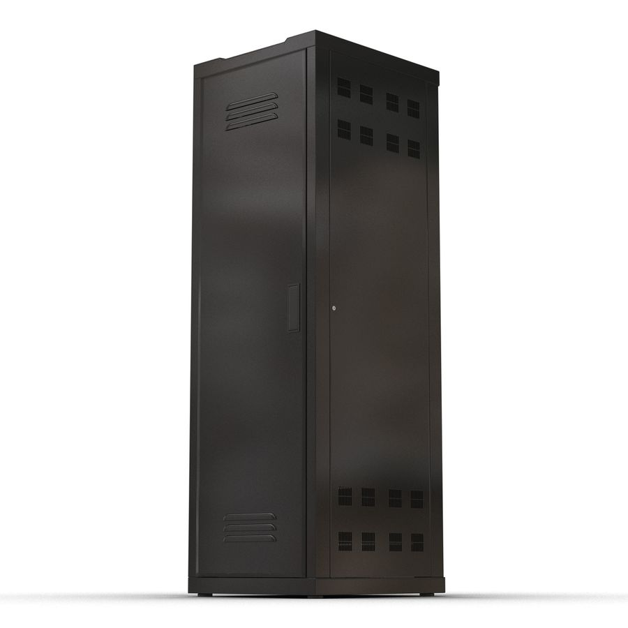 Generic Servers in Rack 2 royalty-free 3d model - Preview no. 9