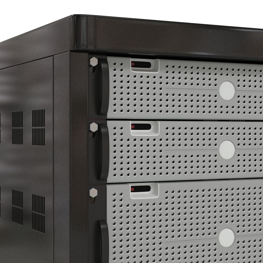 Serveurs génériques dans le rack 2 royalty-free 3d model - Preview no. 13