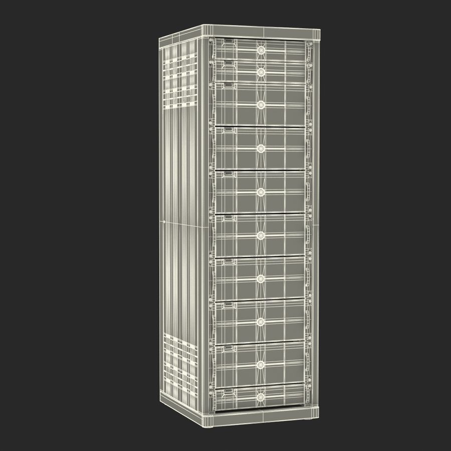 Generic Servers in Rack 2 royalty-free 3d model - Preview no. 21