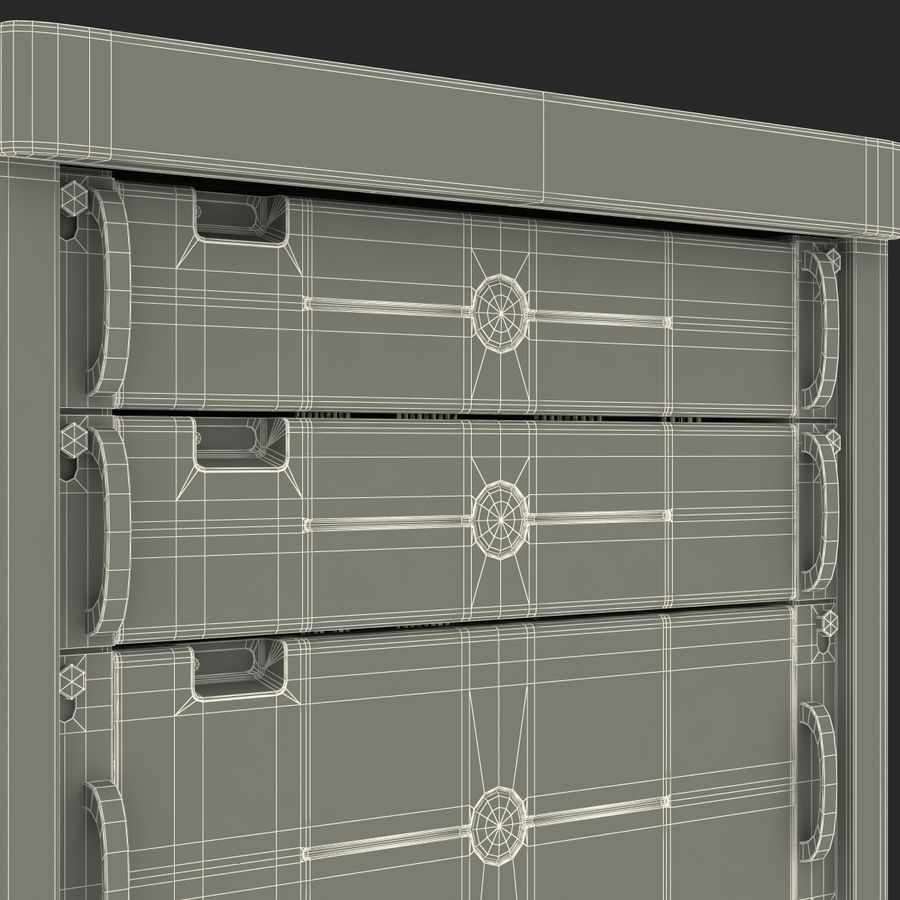 Generic Servers in Rack 2 royalty-free 3d model - Preview no. 27
