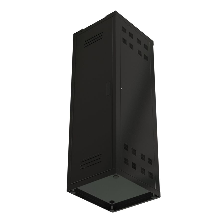 Generic Servers in Rack 2 royalty-free 3d model - Preview no. 10