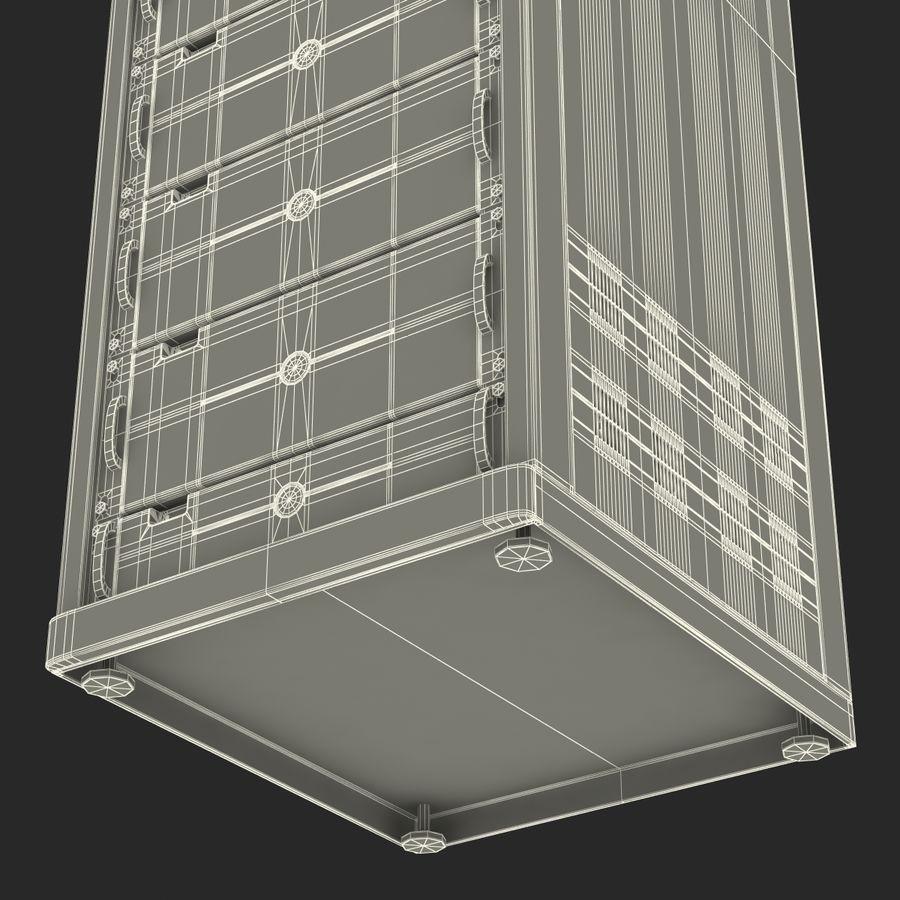 Servidores genéricos no rack 2 royalty-free 3d model - Preview no. 26