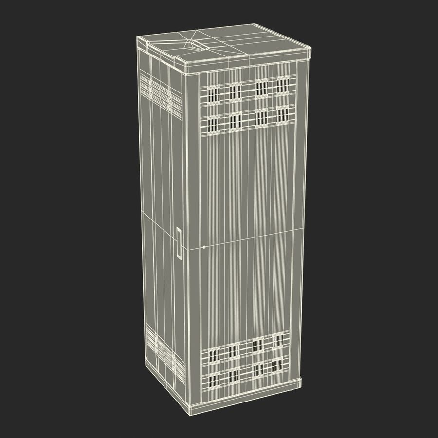 Generic Servers in Rack 2 royalty-free 3d model - Preview no. 22