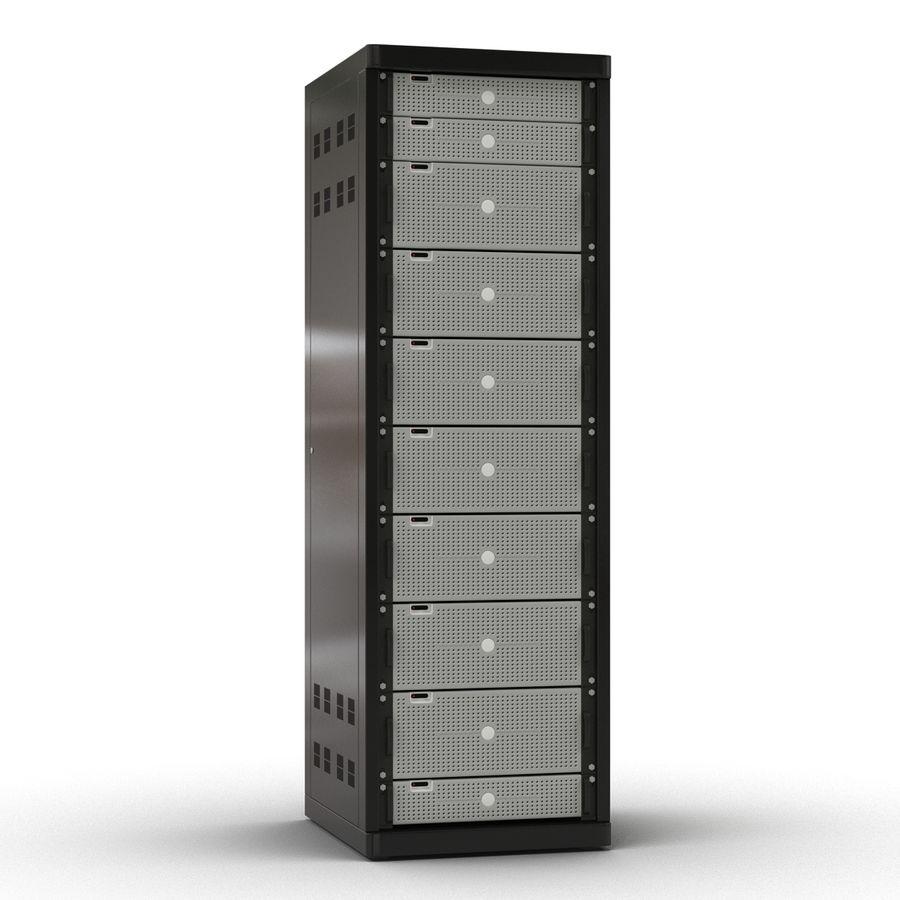 Serveurs génériques dans le rack 2 royalty-free 3d model - Preview no. 3