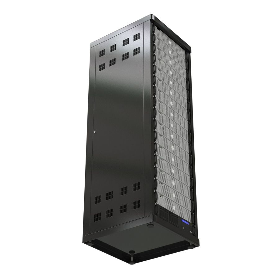 Generic Servers in Rack 3 royalty-free 3d model - Preview no. 9