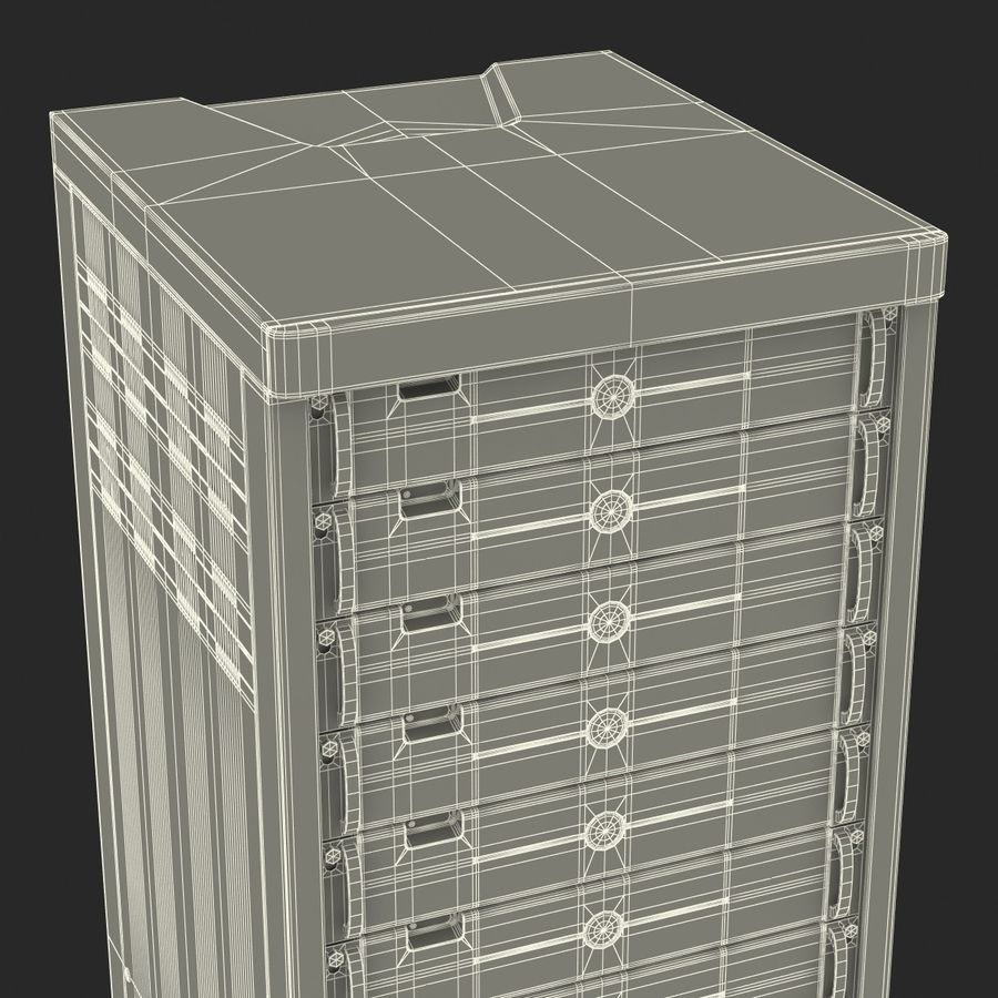 Generic Servers in Rack 3 royalty-free 3d model - Preview no. 25