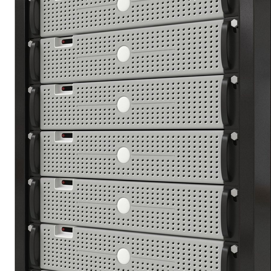 Generic Servers in Rack 3 royalty-free 3d model - Preview no. 13