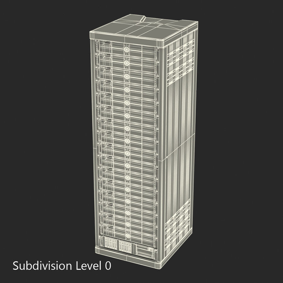 Generic Servers in Rack 3 royalty-free 3d model - Preview no. 16