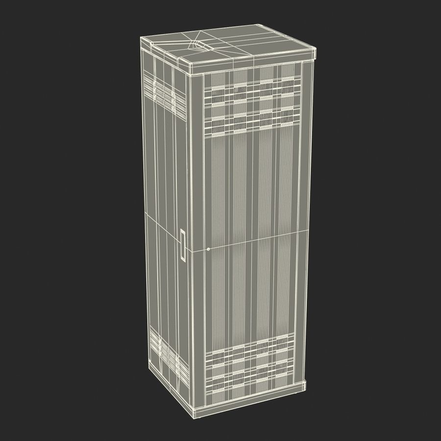 Generic Servers in Rack 3 royalty-free 3d model - Preview no. 23