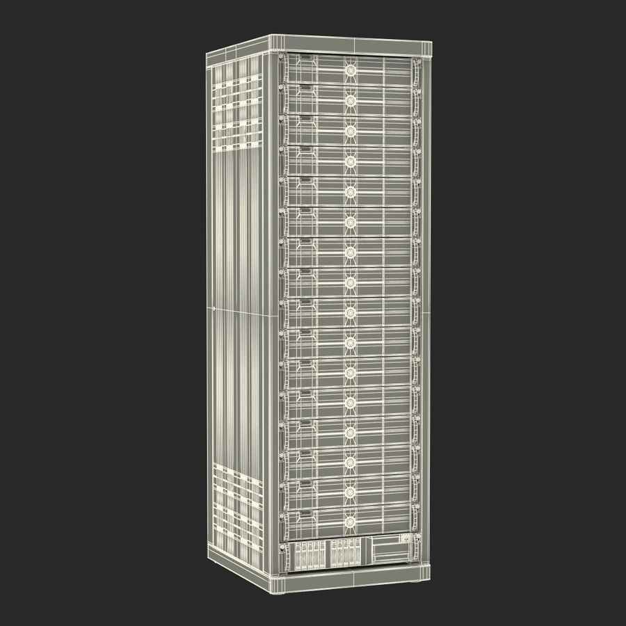 Generic Servers in Rack 3 royalty-free 3d model - Preview no. 22