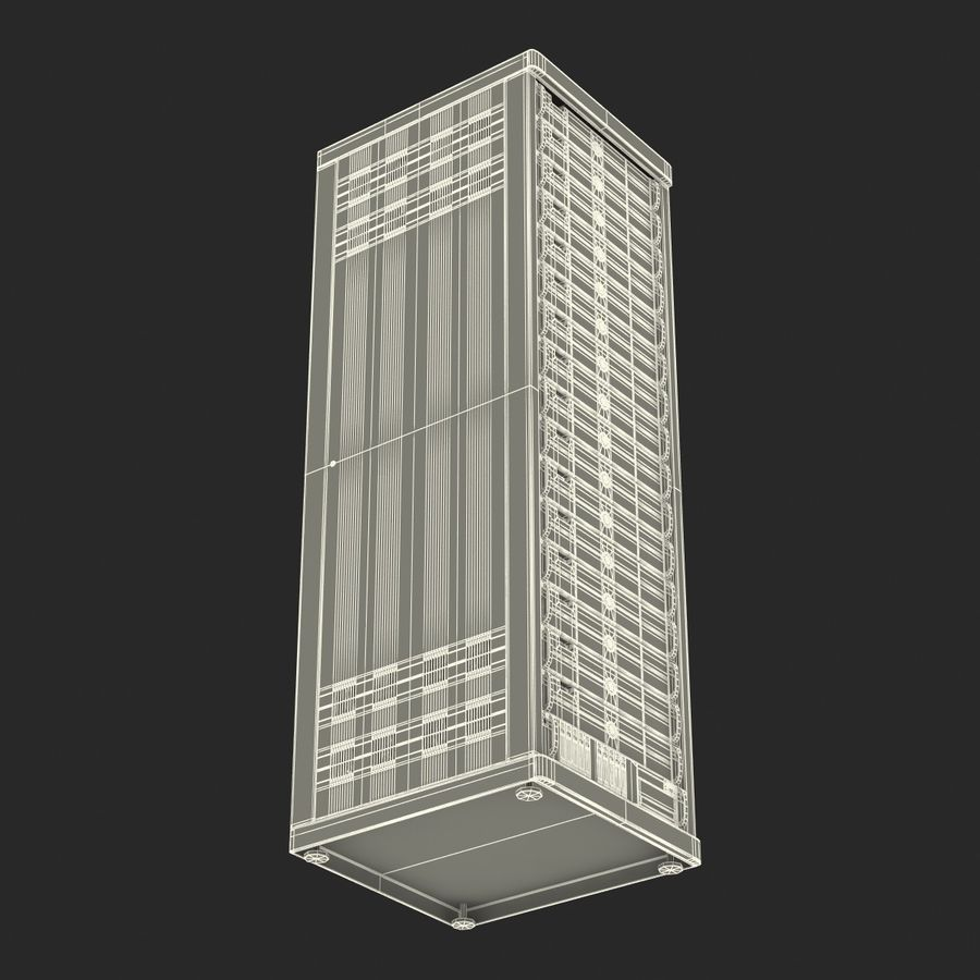 Generic Servers in Rack 3 royalty-free 3d model - Preview no. 24