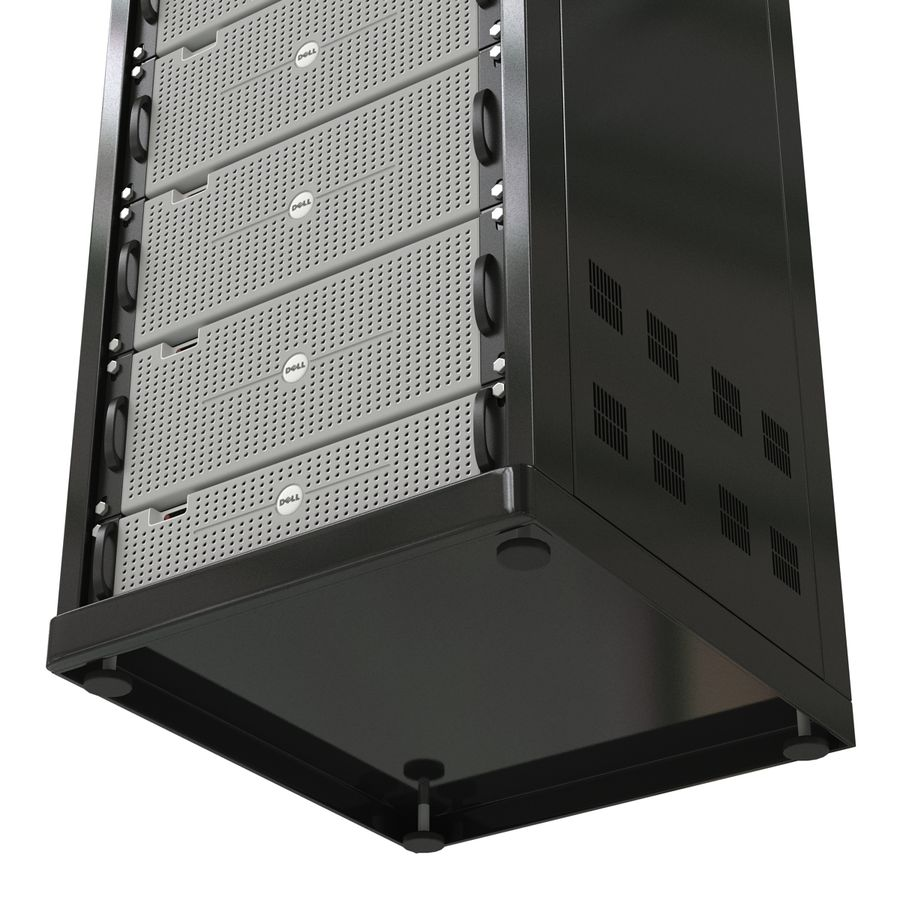 Dell Servers in Rack 3D Model royalty-free 3d model - Preview no. 14