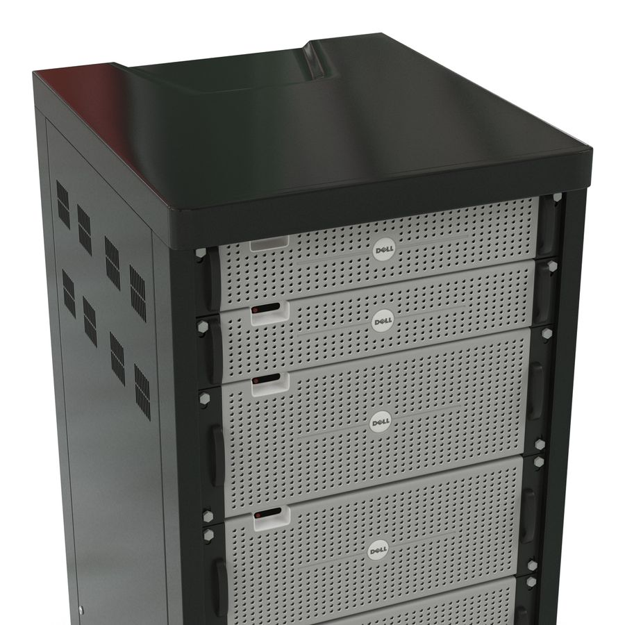 Dell Servers in Rack 3D Model royalty-free 3d model - Preview no. 9