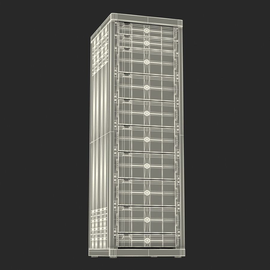 Dell Servers in Rack 3D Model royalty-free 3d model - Preview no. 34
