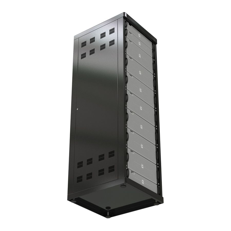 Dell Servers in Rack 3D Model royalty-free 3d model - Preview no. 15
