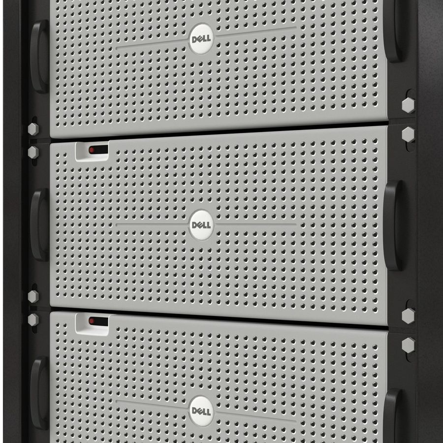 Dell Servers in Rack 3D Model royalty-free 3d model - Preview no. 19