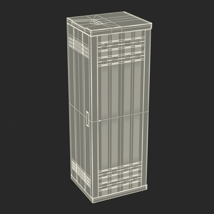 Dell Servers in Rack 3D Model royalty-free 3d model - Preview no. 32