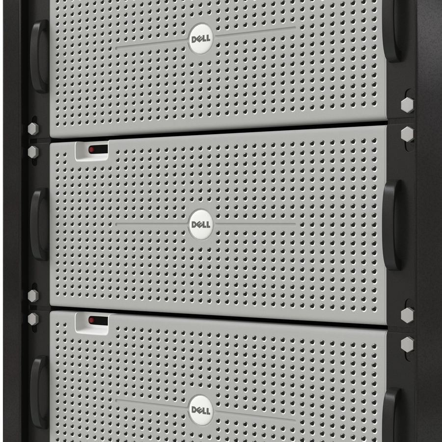 Dell Servers in Rack 3D Model royalty-free 3d model - Preview no. 12