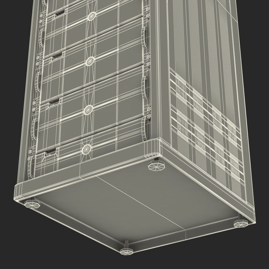 Dell Servers in Rack 3D Model royalty-free 3d model - Preview no. 41