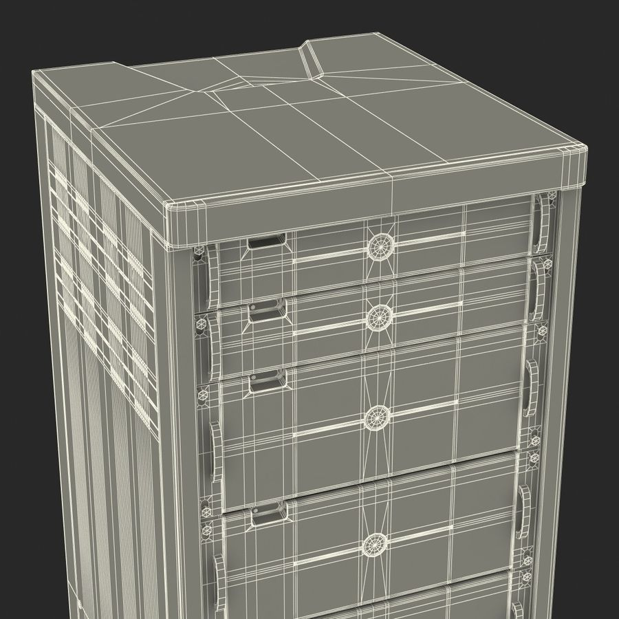 Dell Servers in Rack 3D Model royalty-free 3d model - Preview no. 38