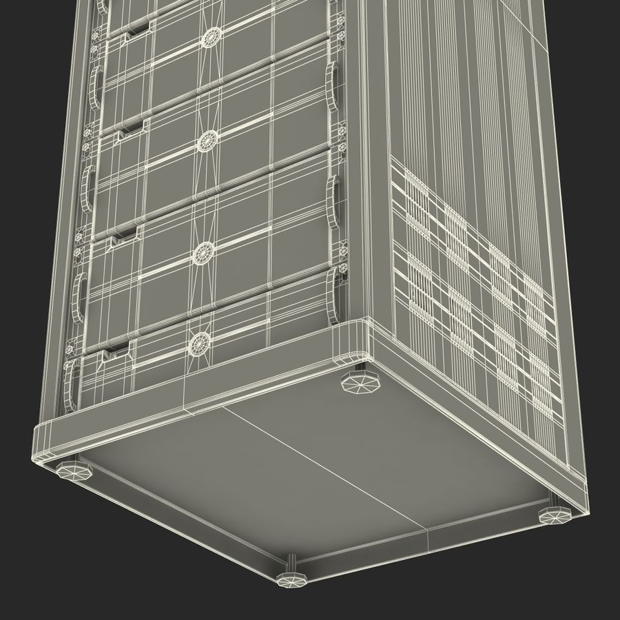 Dell Servers in Rack 3D Model royalty-free 3d model - Preview no. 26