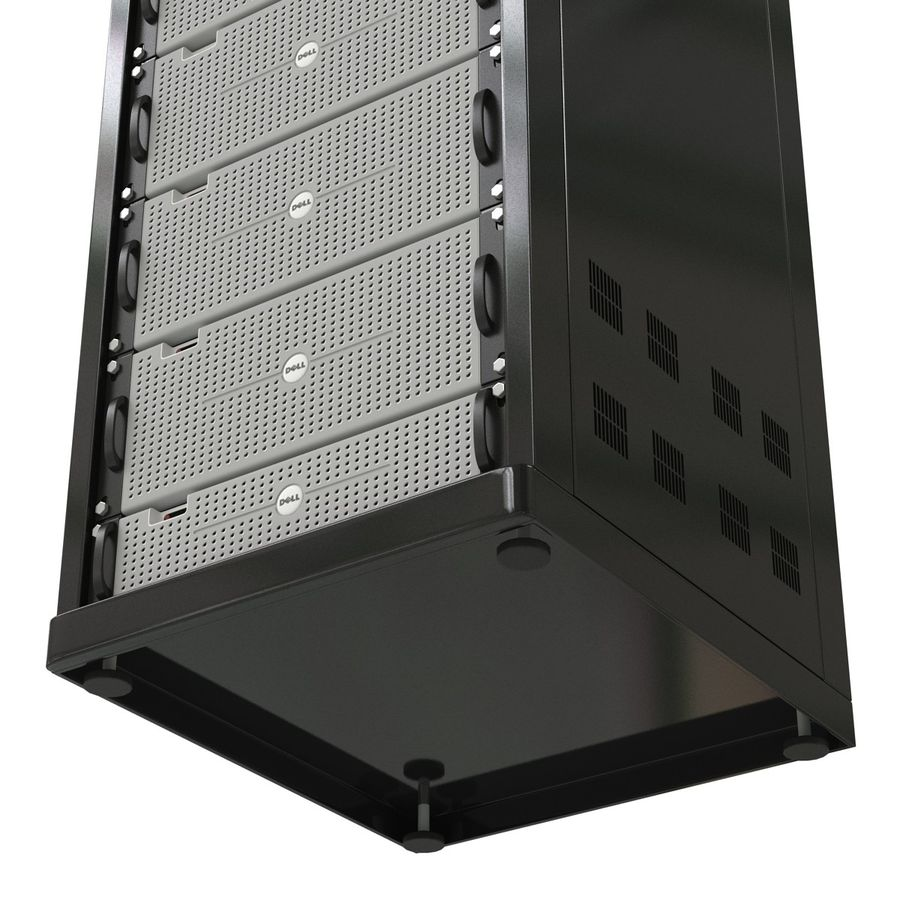 Dell Servers in Rack 3D Model royalty-free 3d model - Preview no. 21
