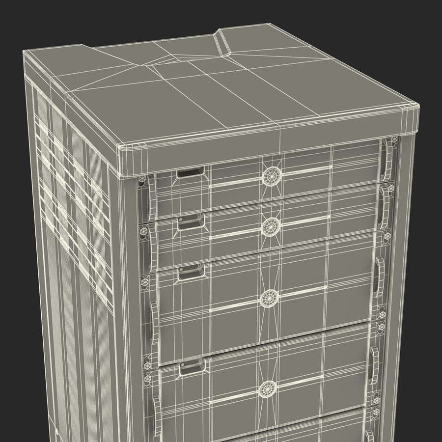 Dell Servers in Rack 3D Model royalty-free 3d model - Preview no. 24