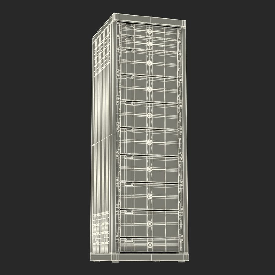Dell Servers in Rack 3D Model royalty-free 3d model - Preview no. 22
