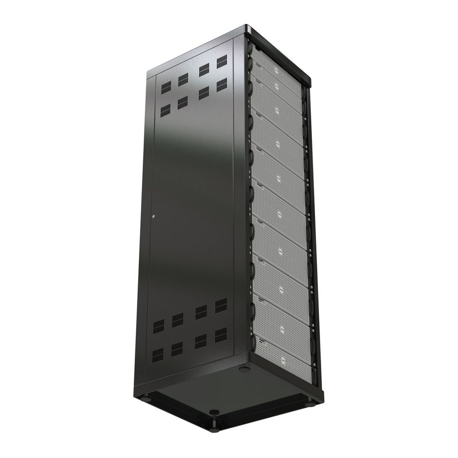 Dell Servers in Rack 3D Model royalty-free 3d model - Preview no. 8