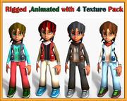 tecknad pojke 3d model