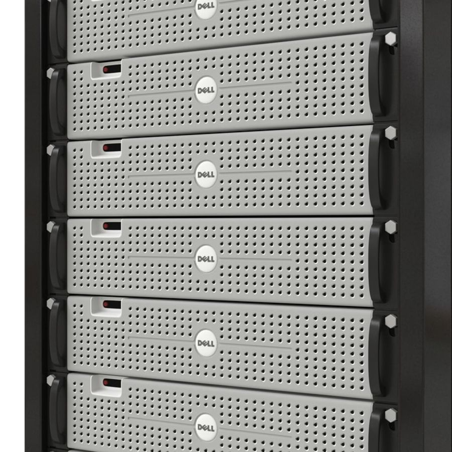 Dell Servers in Rack 2 royalty-free 3d model - Preview no. 12