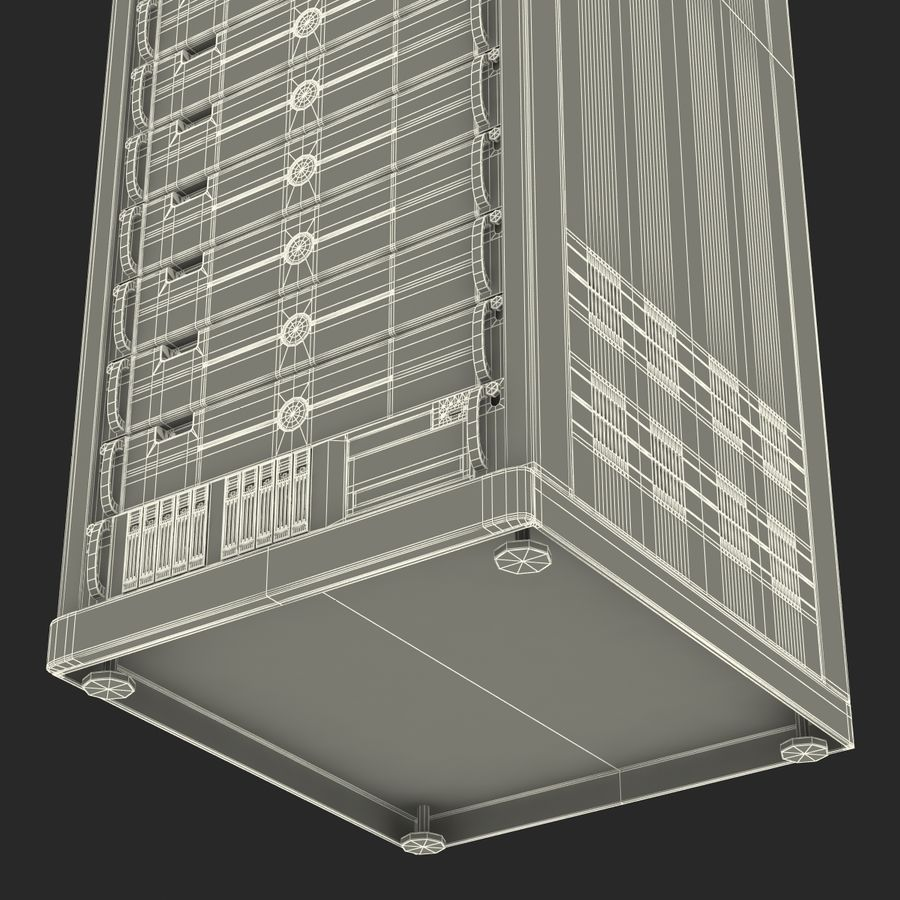 Dell Servers in Rack 2 royalty-free 3d model - Preview no. 27
