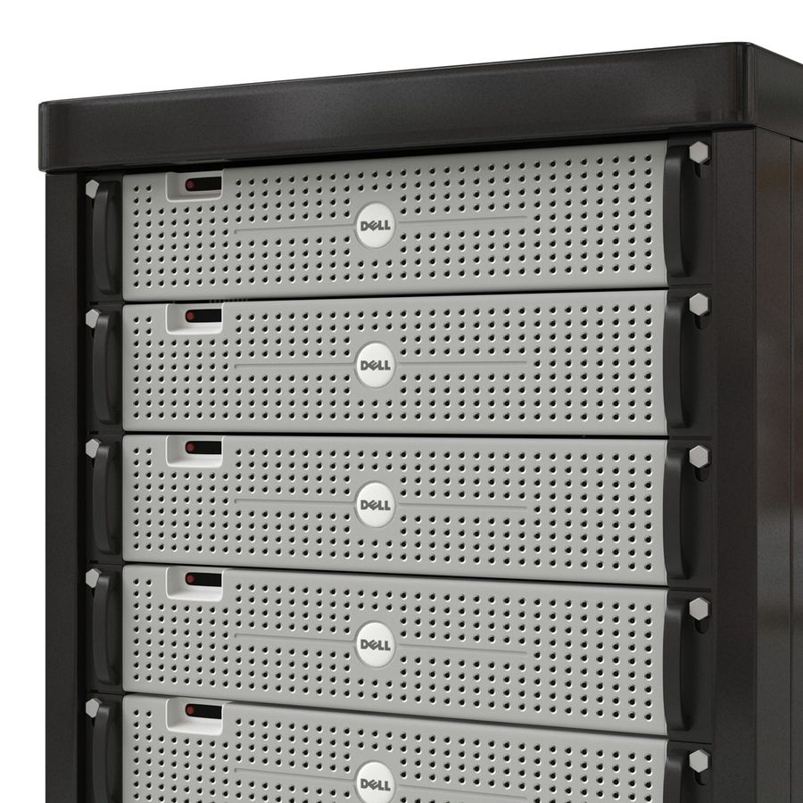 Dell Servers in Rack 2 royalty-free 3d model - Preview no. 10