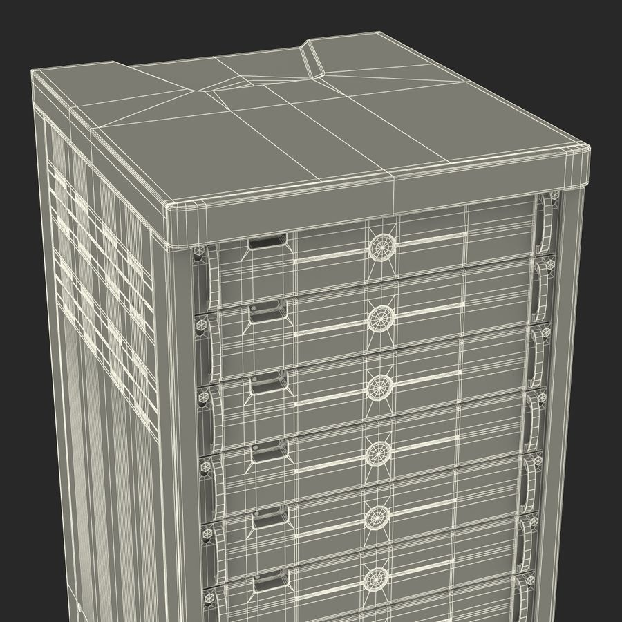 Dell Servers in Rack 2 royalty-free 3d model - Preview no. 25